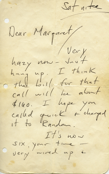 Hunter Thompson Letter