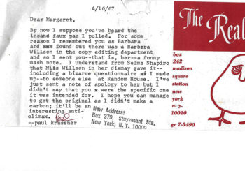 Paul Krassner's Second Letter